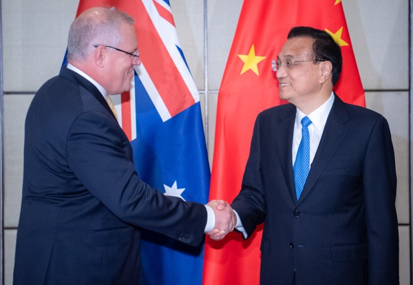 Premier Li meets Australian PM on sidelines of ASEAN summit:null