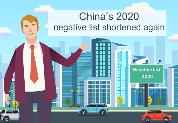 China's 2020 negative list shortened again:0